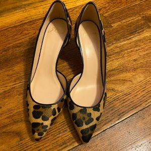 New J CrewColette d'Orsay pumps in leopard print.